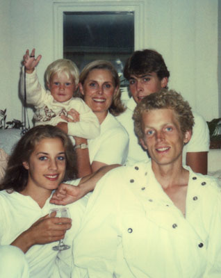 Leslie kenton family in white
