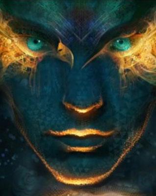 green-eye-shaman